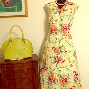 Stunning Coldwater creek yellow cotton dress